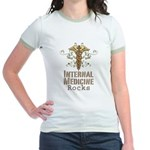 Internal Medicine Rocks Jr. Ringer T-Shirt