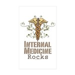 Internal Medicine Rocks Rectangle Sticker 10 pk)