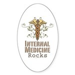 Internal Medicine Rocks Oval Sticker (10 pk)