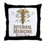 Internal Medicine Rocks Throw Pillow