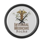 Internal Medicine Rocks Large Wall Clock