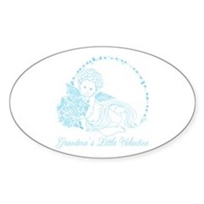 Grandma's Little Boy Valentine Oval Decal
