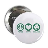 "Peace Love Ireland 2.25"" Button"