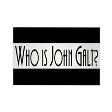 Who Is John Galt? Rectangle Magnet (10 pack)