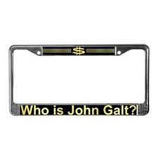 Who Is John Galt? License Plate Frame
