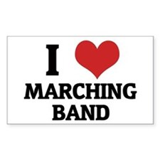I Love Marching Band Rectangle Decal