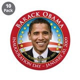 "Barack Obama Inaugural 3.5"" Button (10 pack)"