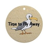 TEE Time to Fly Away Ornament (Round)