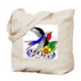 Old Skool Tattoo Swallow Tote Bag