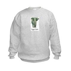 Veggie Eater Elephant Kids Sweatshirt
