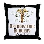 Orthopaedic Surgery Rocks Throw Pillow