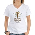 Medical Genetics Rocks Women's V-Neck T-Shirt