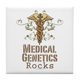 Medical Genetics Rocks Tile Coaster