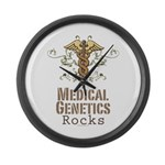 Medical Genetics Rocks Large Wall Clock