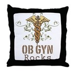 OB GYN Rocks Throw Pillow
