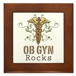 OB GYN Rocks Framed Tile