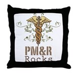 PM and R Rocks Throw Pillow