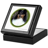 Tri-Color Sheltie Art Keepsake Box