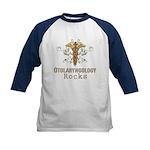 Otolaryngology Rocks Kids Baseball Jersey