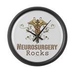 Neurosurgery Rocks Large Wall Clock