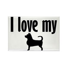 Love My Chi (Large) Rectangle Magnet (100 pack)
