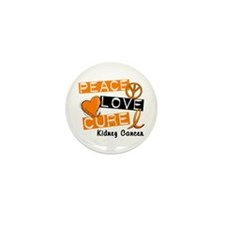 PEACE LOVE CURE Kidney Cancer (L1) Mini Button (10