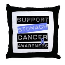 Support Stomach Cancer Throw Pillow