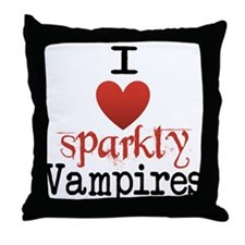 I love sparkly vampires Throw Pillow