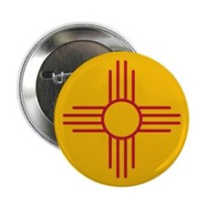 "New Mexico State Flag 2.25"" Button"