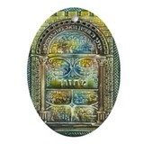 Jewish Prayer Book Hanukkah Oval Ornament
