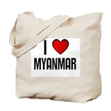 I LOVE MYANMAR Tote Bag