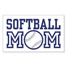 Softball Mom Rectangle Decal