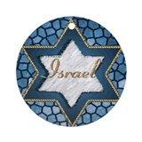 "Star of David ""Israel"" Hanukkah Ornament (Round)"