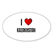 I LOVE KAZAKHSTAN Oval Decal