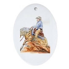Reining horse Oval Ornament