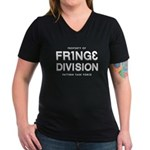 FRING3 DIVI5ION Women's V-Neck Dark T-Shirt