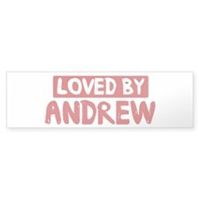 Loved by Andrew Bumper Bumper Sticker