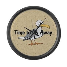 TEE Time to Fly Away Large Wall Clock