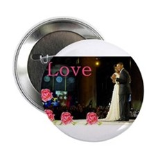 "Barack & Michelle Love 2.25"" Button (10 p"