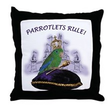 Spectacled Parrotlet Male Lg. Throw Pillow