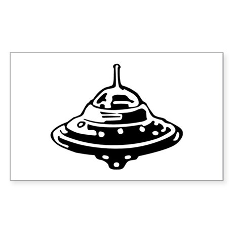 Flying Saucer Sticker (Rectangle)