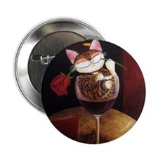 "cat-art red wine 2.25"" Button"