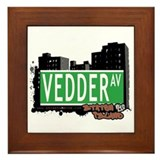 VEDDER AVENUE, STATEN ISLAND, NYC Framed Tile