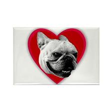 Love French Bulldog Rectangle Magnet