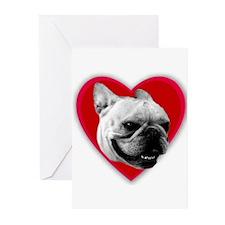 Love French Bulldog Greeting Cards (Pk of 20)