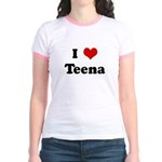 I Love Teena Jr. Ringer T-Shirt