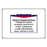 """Obama's Stimulus Plan"" Banner"