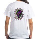 Tribal Skull - White T-Shirt