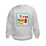 Eighth Birthday Monkey Sweatshirt
