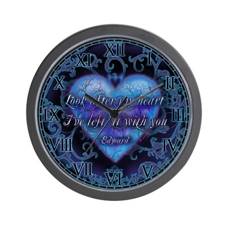 Edward's Heart-Twilight Wall Clock